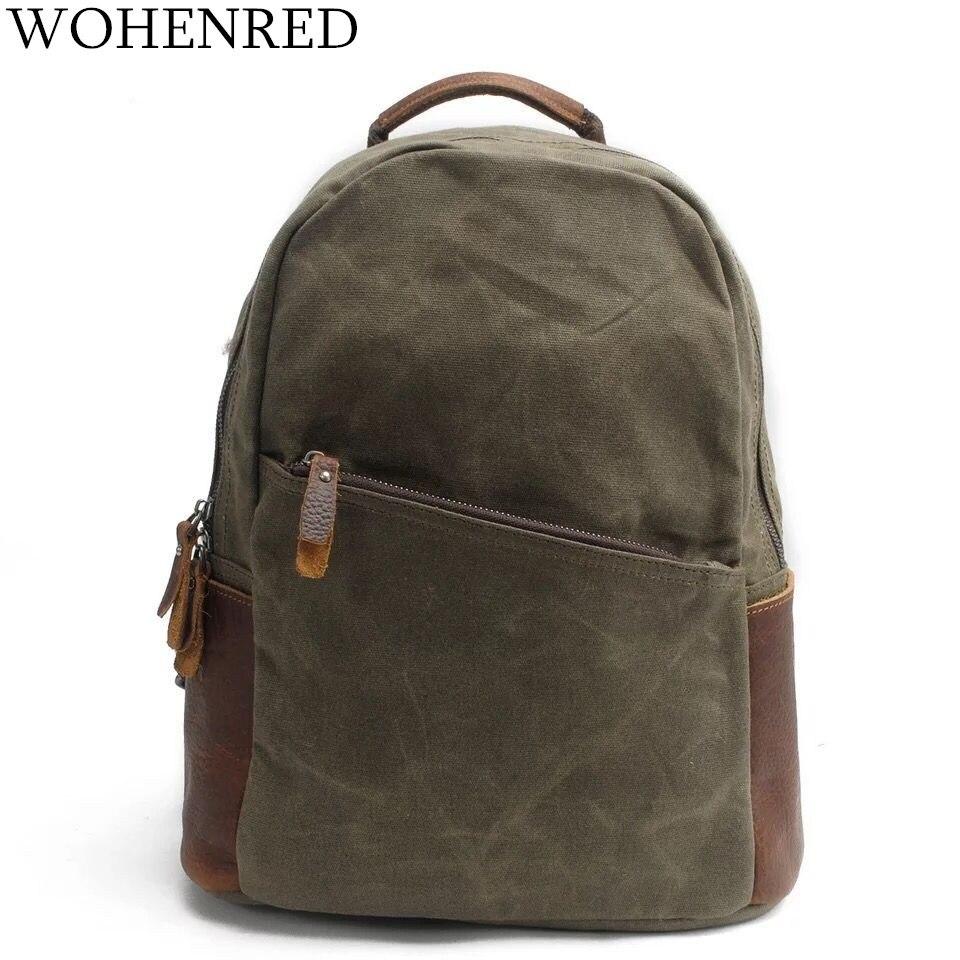 Men's Backpacks Vintage Canvas Large Capacity Travel Backpack Male Luggage Shoulder Bag Waterproof  Mountaineering Laptop Backpa