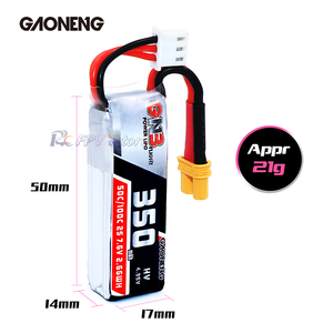 Image 5 - Gaoneng GNB 350mAh 2S 7.6V  HV 4.35V 50C/100C Lipo Battery XT30 Plug for Beta75X RC Drone FPV Racing