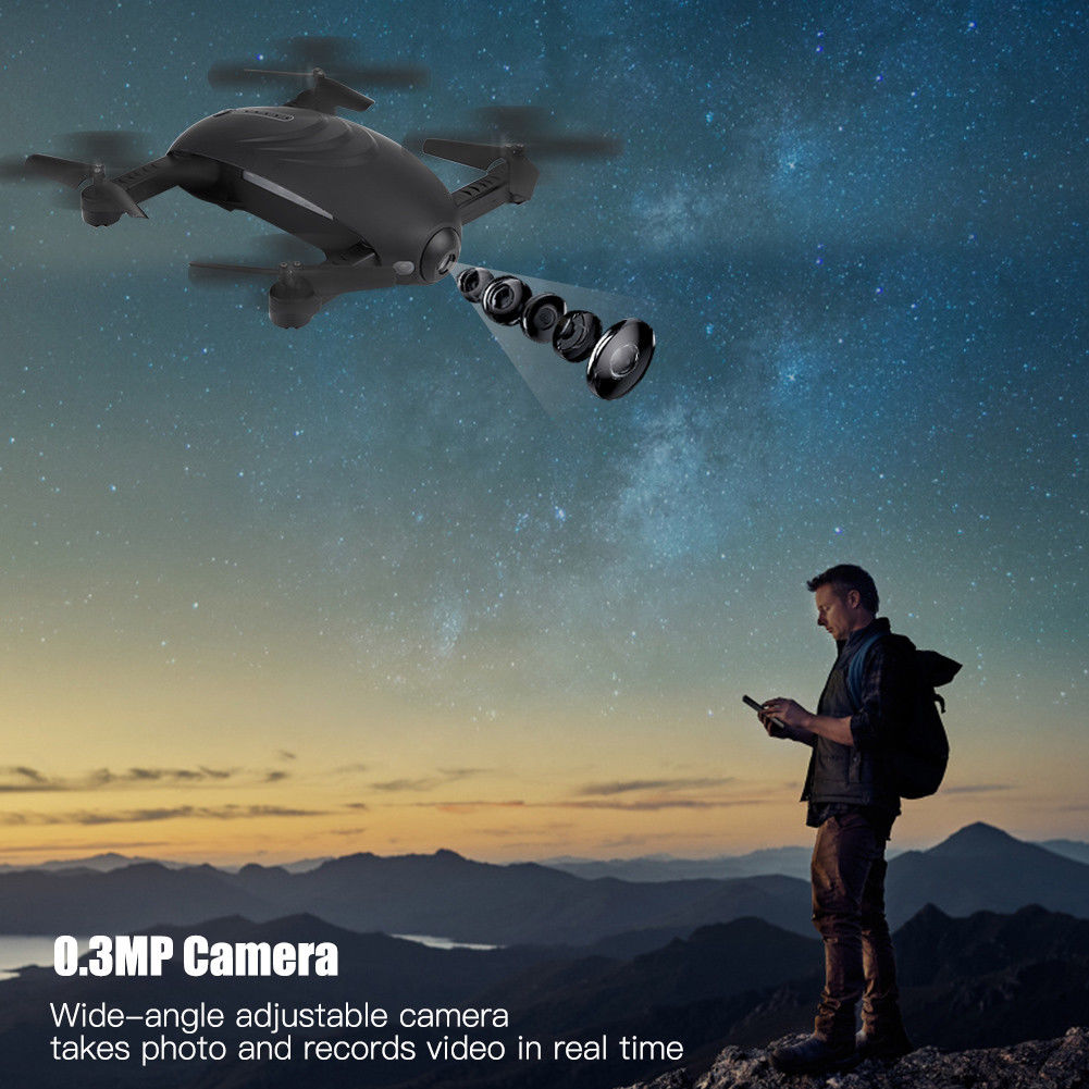 Mini 2.4GHz 4CH 6 Axle Gyro RC Quadcopter Drone One Key Return HD Camera selfie