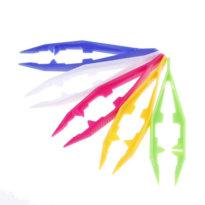 1/5pcs Durable Funny New Design Children Kids Tools Tweezers Kids' Craft For Perler Bead Random Color