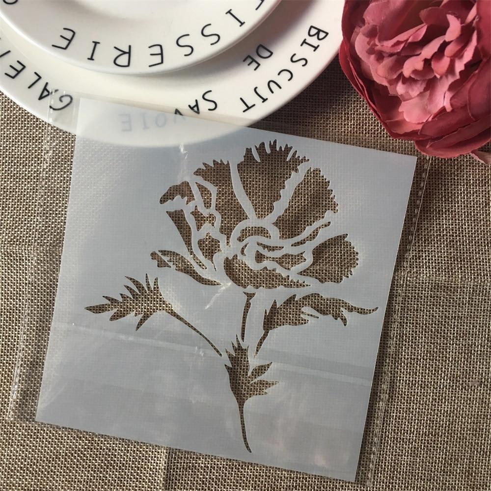 1Pcs 15cm Flower Boutique DIY Layering Stencils Wall Painting Scrapbook Coloring Embossing Album Decorative Card Template