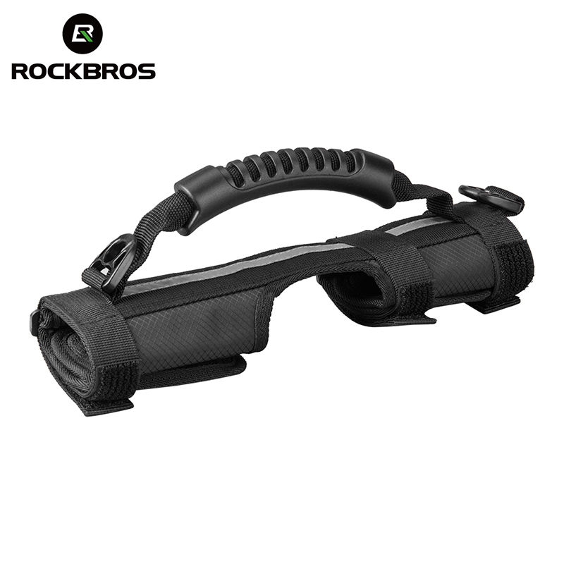 ROCKBROS Folding Bicycle <font><b>Carrier</b></font> Handle Handgrip For Brompton <font><b>Bike</b></font> Cycling <font><b>Bike</b></font> Frame Carry Shoulder Strap Bicycle <font><b>Accessories</b></font> image