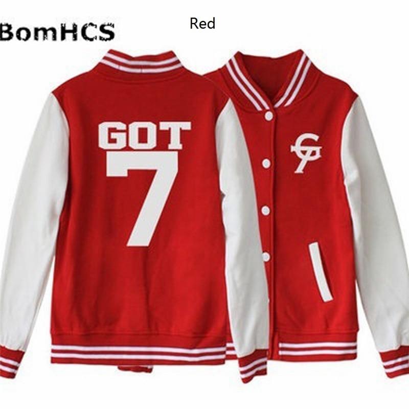 BomHCS Hansung GOT7 Uniform Bambam JB JR Mark Youngjae Jackson Unisex Sweatshirt Baseball Outerwear Coat Jacket