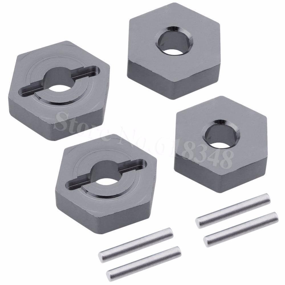 ORANGE 4P Aluminum 17MM Splined Wheel hubs /& nuts TRAXXAS E-Revo 2.0 VXL 86086-4