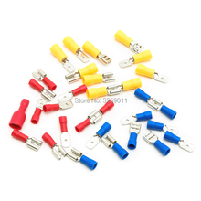 цены 150PCS Spade Crimp Terminals Fully Insulated Electrical Connectors Audio Wiring Butt Crimp Terminal Male Female Assortment Kit