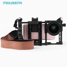 MOUSEMI 2in1 Grand Angle Macro Lentille 37mm Montage Avec Ceinture téléphone Cas Ergonomique Poignée Tirer Film Pour iPhone Caméra Mobile téléphone