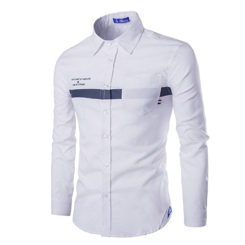 Solid color spring men shirt brand clothing pocket design for Men oxford slim fit long sleeve shirt