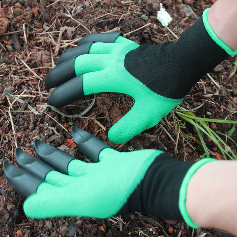 DMWOVB New Garden Gloves 8 Abs Plastic Claws For Garden Excavation Planting Outdoor General Protective Work Gloves Hot Selling