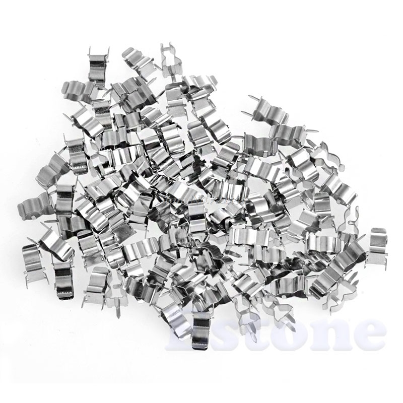 100Pcs 5*20mm Fuse Holder Clips Glass Quick Fast Blow Fuses Welding Holder