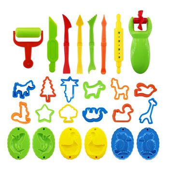26PCS DIY Slime Plasticine Mold Modeling Clay Kit Slime Plastic Play Dough Tools Set Cutters Moulds Toy for children Kid Gift 1