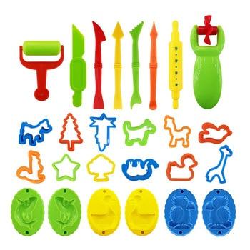 26 PCS DIY Slime Plasticine Mould Kit de argila de modelagem Slime Plastic Play Dough Tools Set Cutters Moldes Toy for children Kid Gift 1