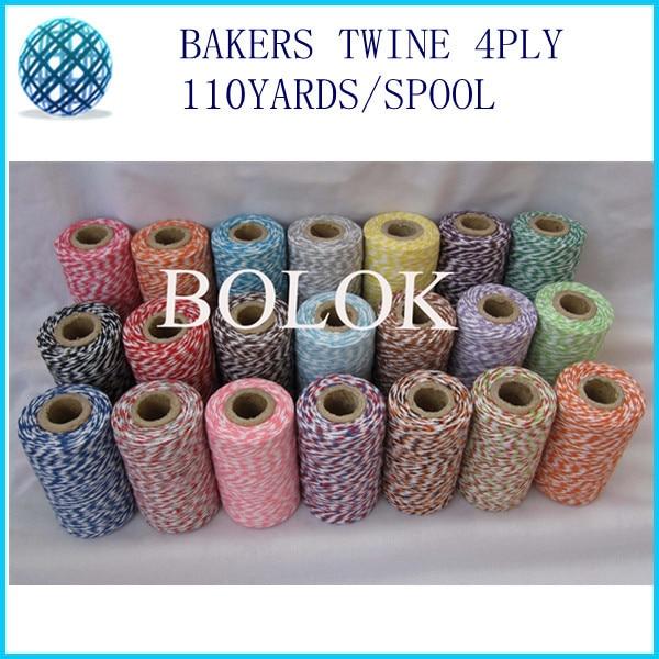 50pcs / lot thin-4ply Bakers twine (110Yards / spool) gudomlig garn, - Semester och fester
