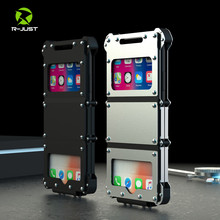 R-JUST Steel Flip Case for Apple iPhone