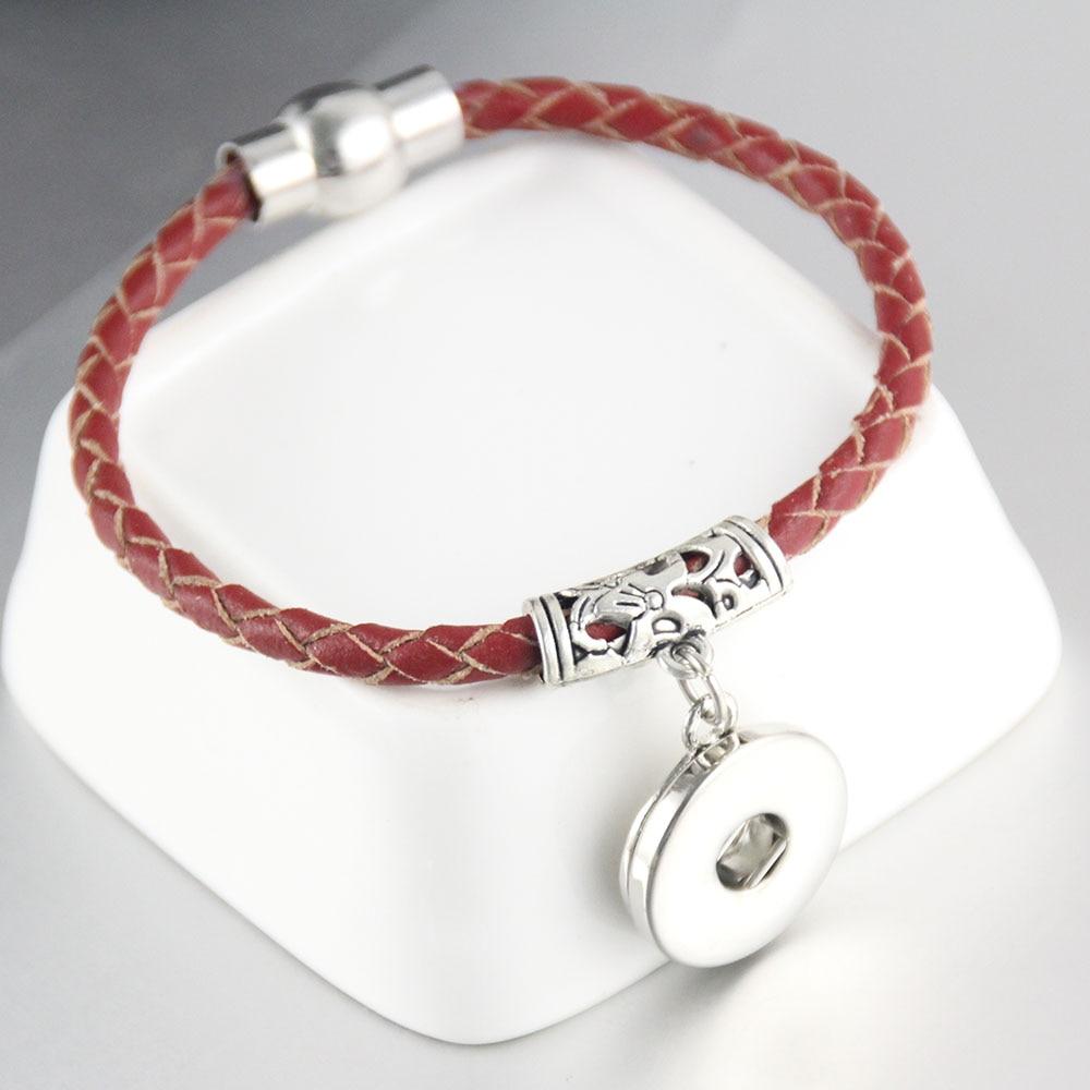 Magnetic Charm Bracelet: 6pcs Magnetic Clasp Hollow Tube Interchangeable 20mm