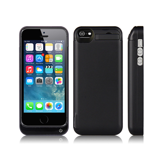 GagaKing adaptador de Alta qualidade 4200 mAh Externa pacote Carregador banco do poder caixa de bateria de backup para o iphone SE 5 5S 5c 6 cores