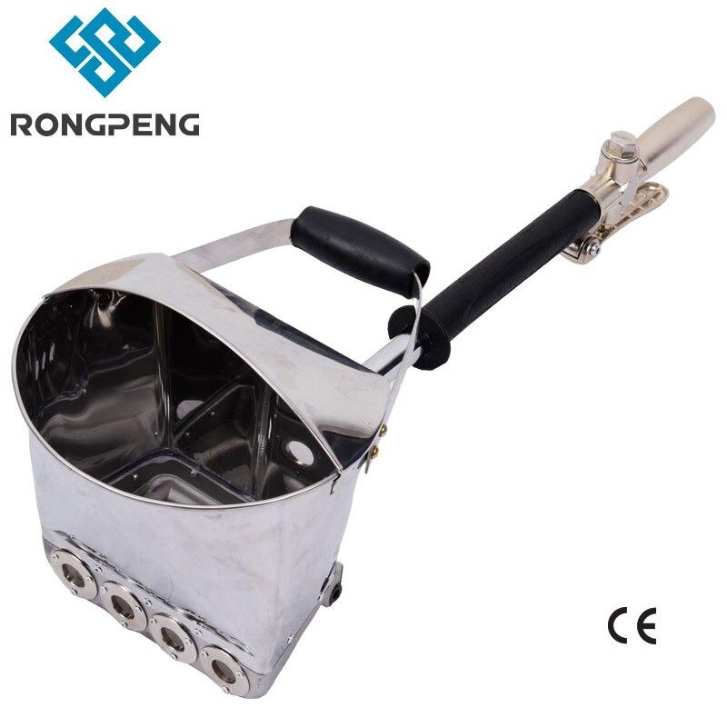 Rongpeng Cement Sprayer Gun hopper Gun Hand Trigger Air Valve Stucco Sprayer Mortar Sprayer Plaster Sprayer With 4 Holes