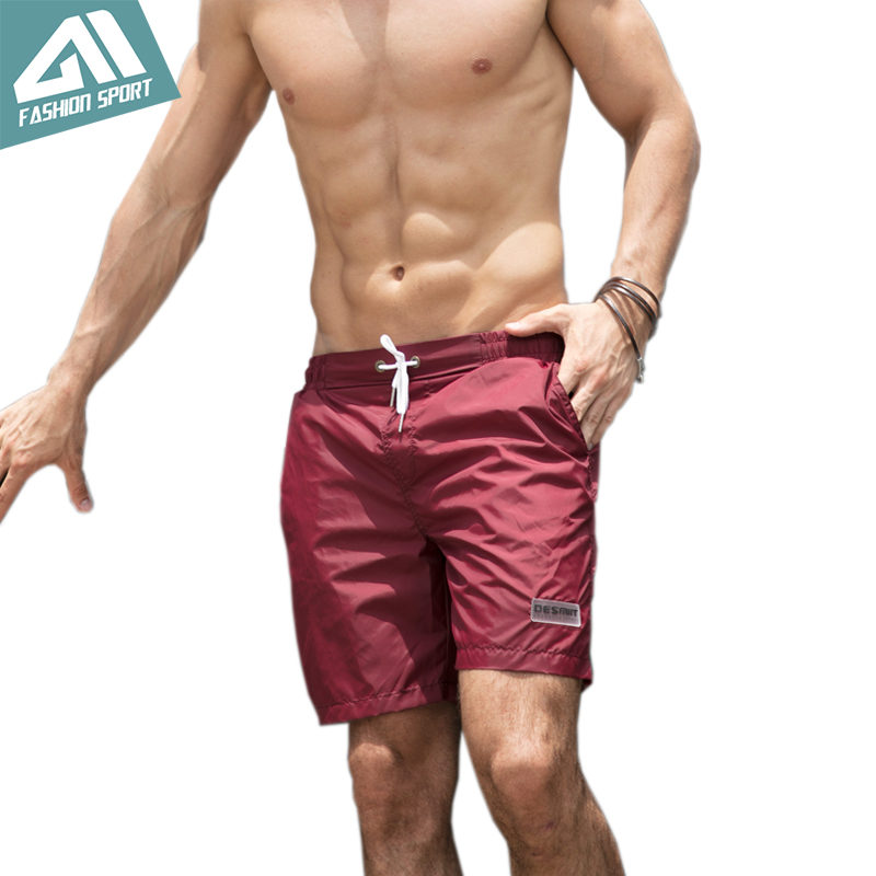 2018 New Quick Dry Mens Swim   Shorts   Summer Mens   Board     Shorts   Surf Swimwear Beach   Short   Male Athletic Running Gym   Short   DT82
