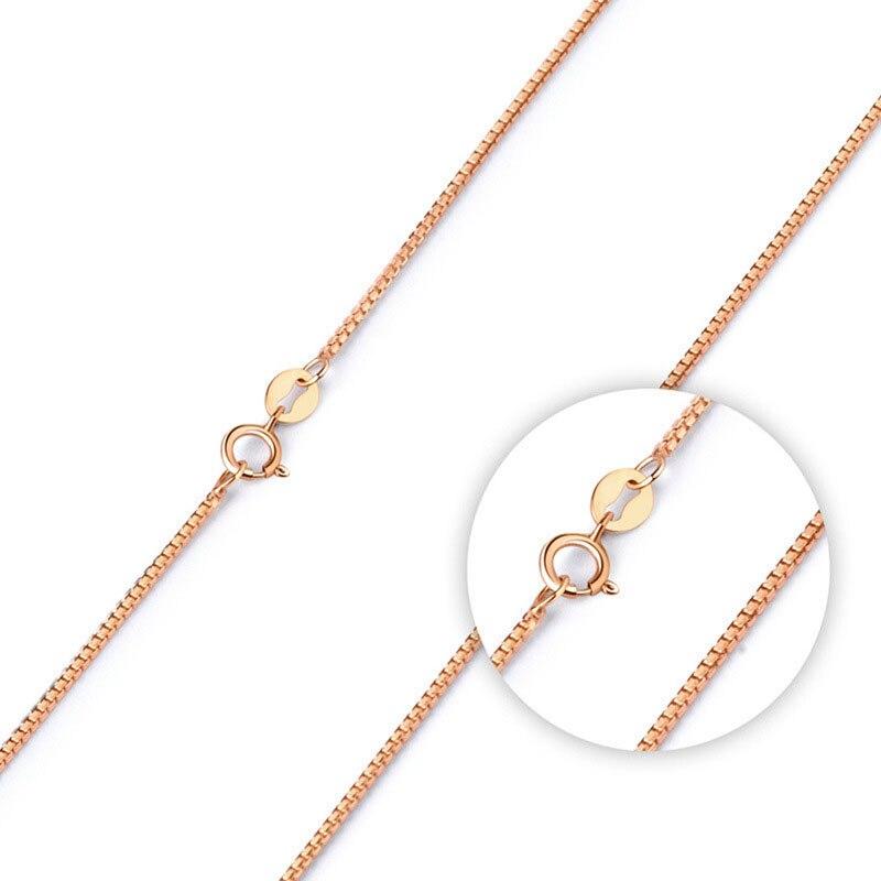 QYI bijoux mode 18 K blanc jaune Rose or lien chaîne 16-18 pouces Au750 collier pendentif Wendding fête cadeau pour les femmes