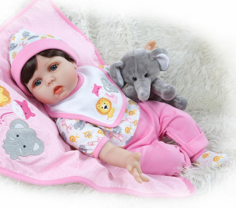 bebes reborn doll cute girl reborn babies 3/4 silicone vinyl dolls toys for children creative gift lol bonecas for kids doll 55cbebes reborn doll cute girl reborn babies 3/4 silicone vinyl dolls toys for children creative gift lol bonecas for kids doll 55c