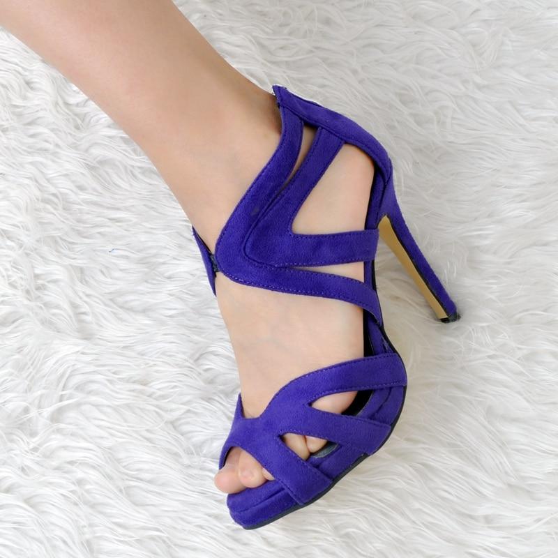 Bleu Femmes Chine Sandale Talons Royal Évider Blue Nouvelles Bout Été Ouvert À Chaussures Bandoulière 2017 Hauts dBHxqHY6