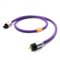 XLO Limited Edition AC Power Cord European power cable with gold plated EU verion plugs connection