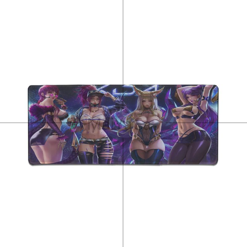Maiyaca League of Legends virtual girl band K DA KaiSa2 Rubber Gaming mousepad Desk Mat computer game mouse pad gamer play mats in Mouse Pads from Computer Office