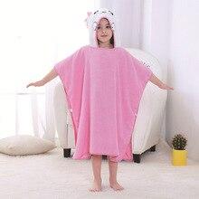 Летний банный халат для девочек; детское полотенце с капюшоном; Банное полотенце с рисунком; детский халат; Пижама с животными для маленьких мальчиков; детская пляжная одежда