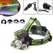 SKYWOLFEYE F526 Headlamp 1200LM XML T6+2x XPE 3 LED Rechargeable Head Light Torch + 2x Charger for Outdoor