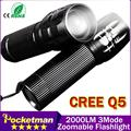 The best quality mini LED Flashlight! Strong Lumens Lanterna Torch light Zoomable lantern penlight bike light