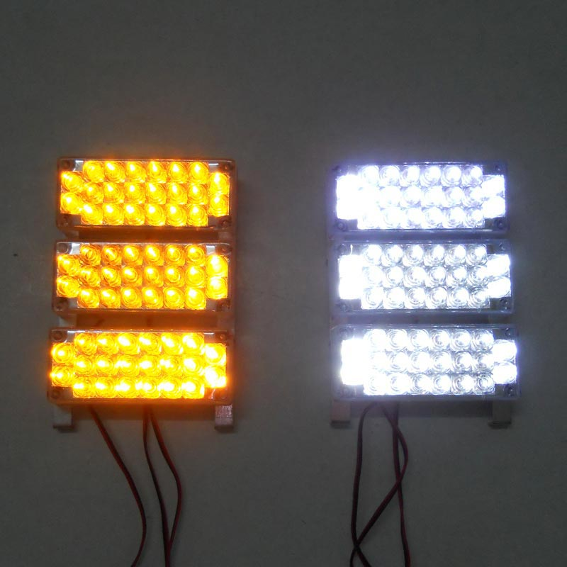 ФОТО 6x22 LED Car Truck Boat 3 mode Strobe Grill Warning Light Yellow White Blue Amber Red Green