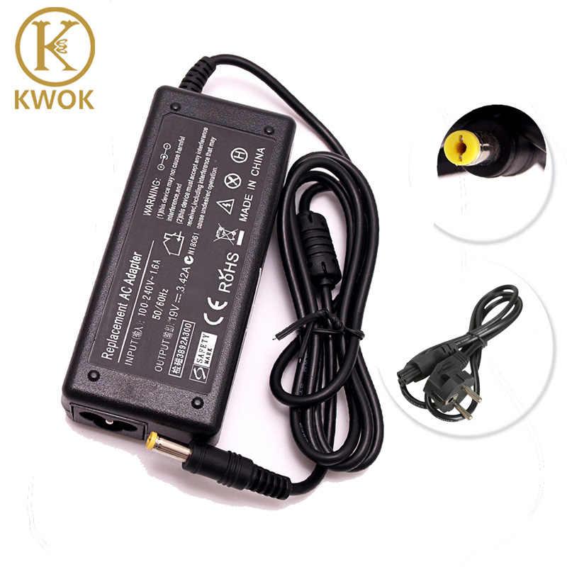 19 V 3.42A AC Adapter Laptop Charger + UE Kabel Listrik untuk Acer Aspire K52F E625 E627 E725 X8AC 4310 4320 Power Supply Notebook
