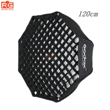 "GODOX 120 cm/48 ""Octagon Softbox Guarda-chuva Dobrável Portátil Photo Studio Flash Speedlite Difusor Refletor com Grade"