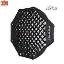 """GODOX difusor portátil plegable de 120 cm / 48 """", Octágono, paraguas, Flash de estudio fotográfico, Reflector Speedlite con rejilla"""