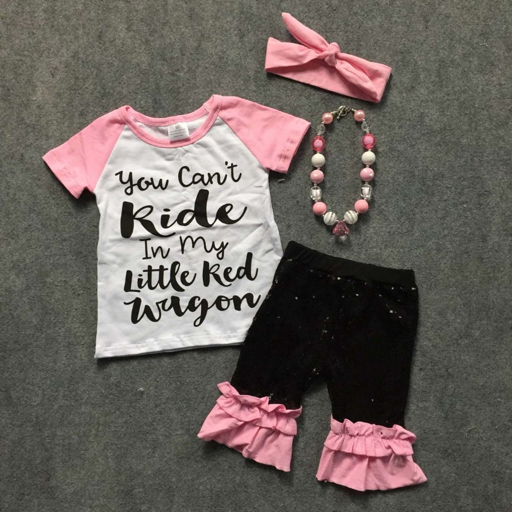 Baby girls casual outfits girls short sleeve girls boutique clothing kid you can t kide in