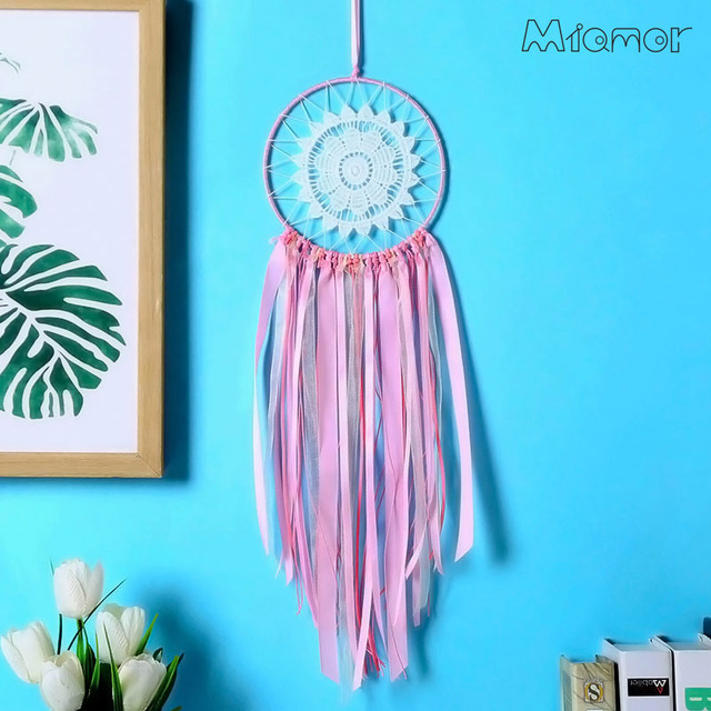 Pink Lace Indian Dreamcatcher