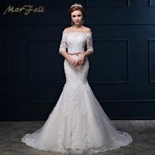 MarFoli 2018 Elegant Crystal Beading Princess Wedding dress