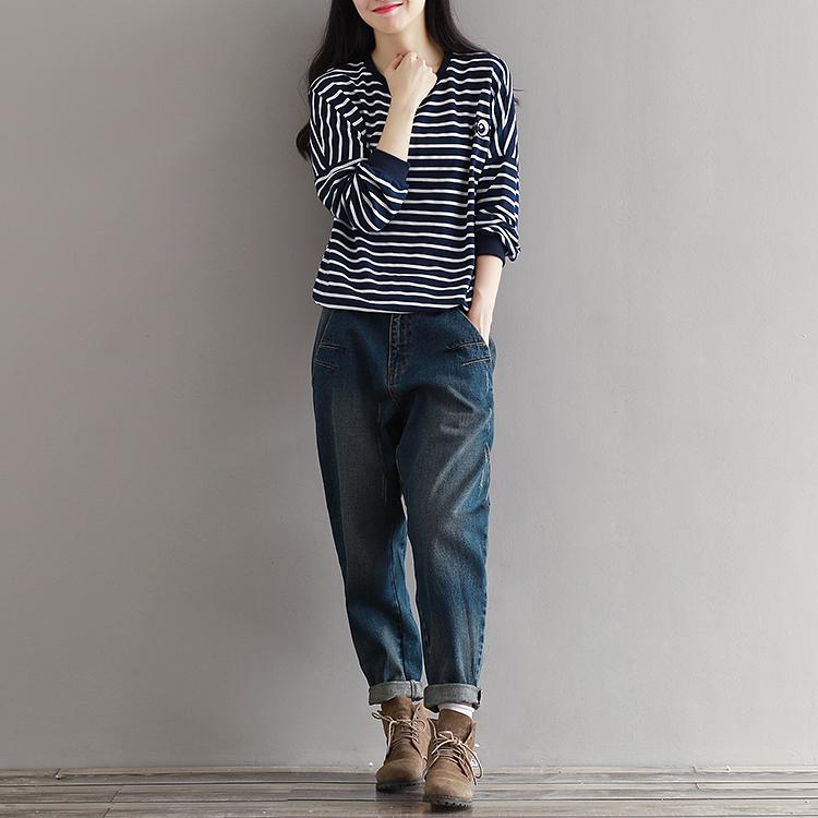 17 Winter Big Size Jeans Women Harem Pants Casual Trousers Denim Pants Fashion Loose Vaqueros Vintage Harem Boyfriend Jeans 17