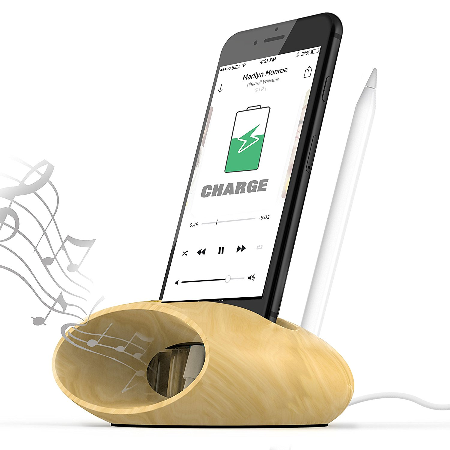 Buy mobile phone stand wooden and get free shipping on