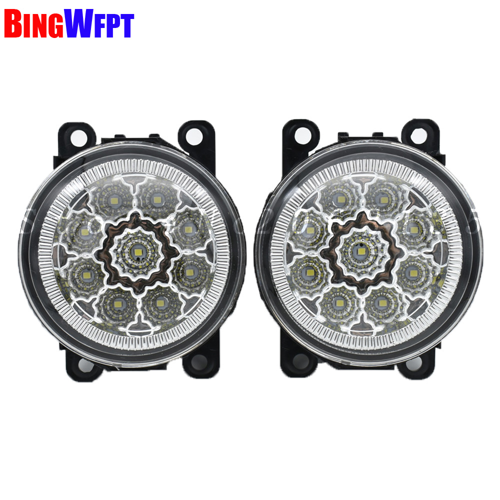 2 PCS NEW Angel Eyes Car styling LED / Halogen fog lights fog lamps For FORD FOCUS MK2 2004-2010 12V car styling halogen fog lights fog lamps for nissan qashqai 2 2007 2012 12v 1set
