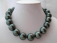 Jewellery Rare Huge 20mm south sea Black Shell Pearl Necklace AAA