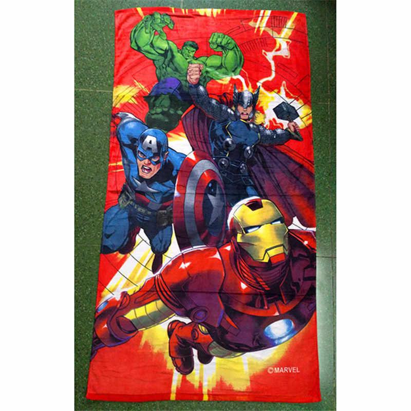 Les Avengers Serviettes Enfants Coton 140 72cm Super Heros Imprime