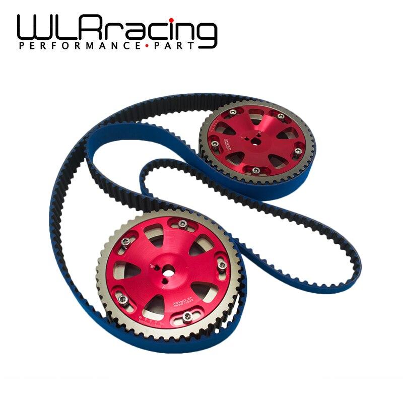 WLRING STORE- HNBR Racing Timing Belt + Balance + Aluminum Cam Gear FOR EV01-9 4G63 WLR-TB1007B+6538R vr racing hnbr racing timing belt