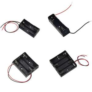 Box-Holder Cables Power-Battery Adapters-Accessories with 1-2-3-4-Slots Black 1pcs Storage-Case