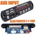 9-12 V Módulo de Áudio Sem Fio Bluetooth MP3 Decodificador Bordo AUX Carro USB TF Rádio FM com Frete Grátis Número da faixa 12002839
