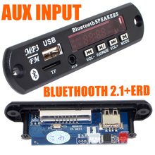 9-12V Car Bluetooth Wireless MP3 Decoder Board Audio Module AUX USB TF FM Radio Free Shipping with Track Number 12002839