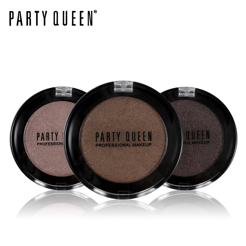 Party Queen Newest Smokey Diamond Single Color Eyeshadow Powder Palette High Pigment Makeup Shimmer Matte Iridescent Eye Shadow