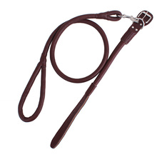 LDC005 Leather Dog Collar Leash Set Durable Strong Large Dog Leash For Trainer Pitbull