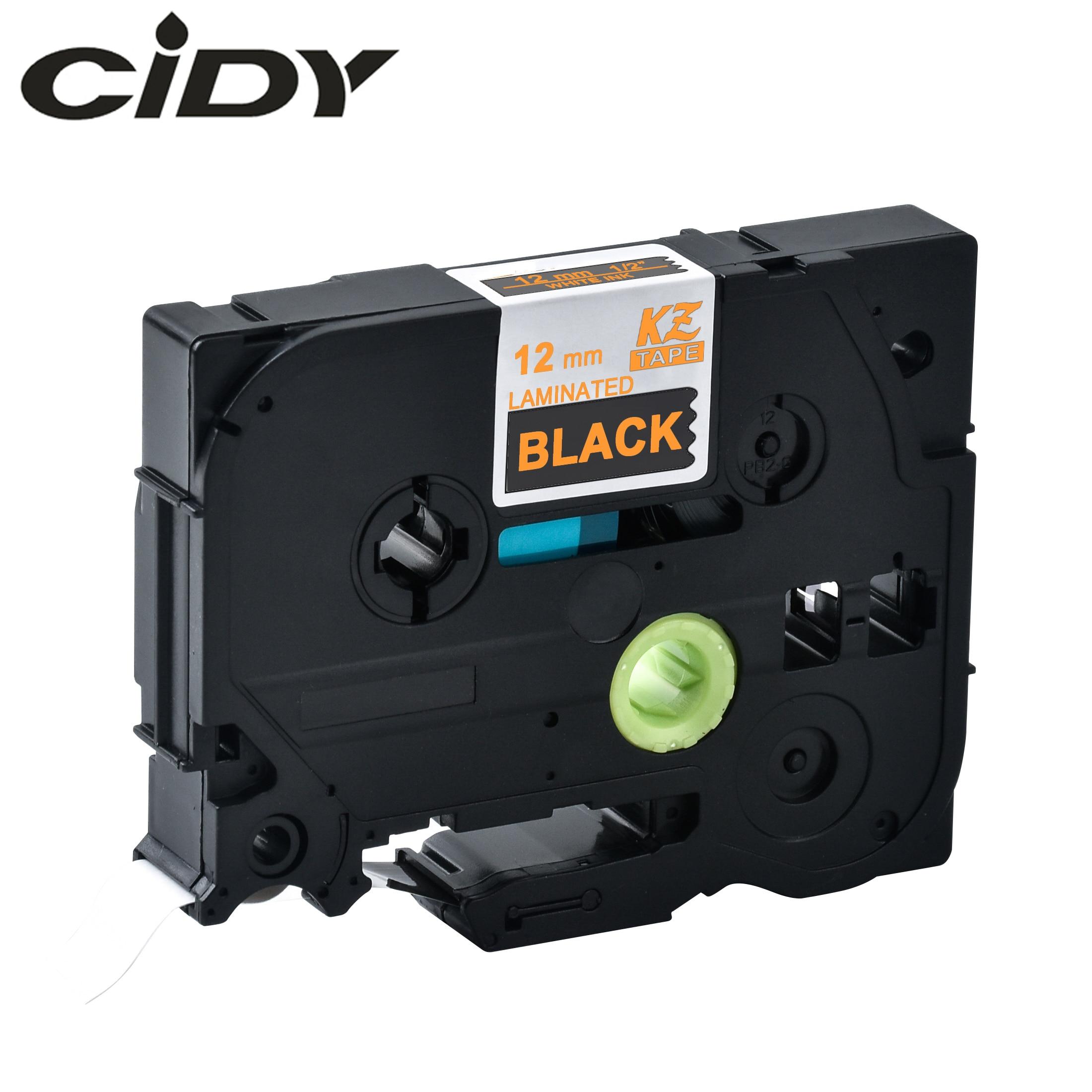 CIDY Tze 334 Tz334 Gold On Black Laminated Compatible P Touch 12mm Tze-334 Tz-334 Tze334 Label Tape Cassette Cartridge