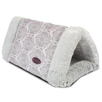 Bed Cat Tunnel 2 in 1 Soft Grey stampings tones Gray