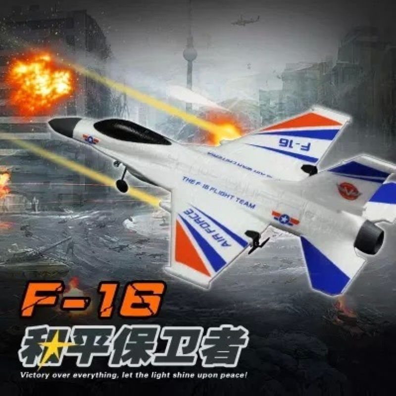 High quality remote control plane 6215 F16 2.4G 2CH EPP Resistance fall radio coontrol RC glider fixed wing fighter model toy